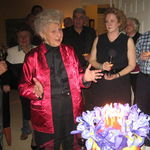 """Marie """"in action"""" at her 90th bday party."""