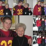 Montage of photos of Matt & Alex with Grandma Chrstmas 2006. The kids look so young!!