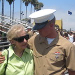 Matt & Grandma share a moment at his Bootcamp Graduation. 2008