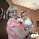 Grammy with her little great grand son