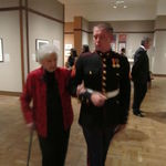 Matt escorting Grandma at the opening exhibit.