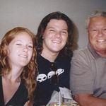 Grandkids, Melissa & Jimmy w/Grandpa