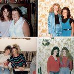 Lisa w/Aunt Loretta (TL), Cousin Lynn (TR), Wanda (BL), Michelle (BR)