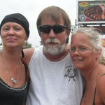Lisa with Her life long friend Jeannie & her husband Randy Norris @ Lisa's Ride from Big Dog