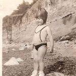 "Dad - 3 years old - Do you think he's looking for ""the beach lady""?"