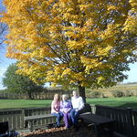 Karen, Rick and Me - What a beautiful fall.