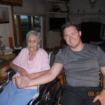 My Grandson, Jeff, and me on my 97th birthday.
