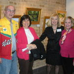 Marilyn at my art show along with other CACS members, Mitch, Peggy and myself, Elaine