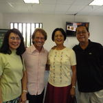 Inside the Enagic USA office in Torrance, CA with my sister Lily and Bob Gridelli, one of the top Kangen leaders, 10/15/2009