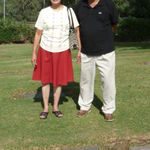 At my father's grave in Los Angeles, CA, 10/15/2009