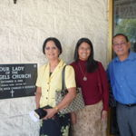 With our friend Jade at the Our Lady of Angels Church (SSPX) in Arcadia, CA, 10/25/2009