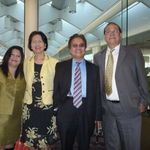 With Romi & Rose Verdera at Hyatt Hotel on the occasion of Enagic CEO Hironari Oshiro's 70th birthday, 4/17/2011