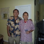 With Carlos Belleza, Vic's childhood friend, in Orlando, FL, 8/6/2011.