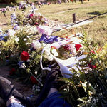 His final resting place,I'm setting with him.