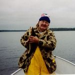 Jim at Wine Lake Camp-Ontario, Canada,  Aug. 2004