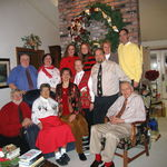 Here we are on Christmas Day in 2004. This is the Guyer side of our family with my parents, sister and brothers, spouses and lovely nieces.