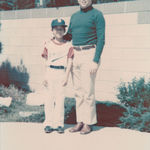 Albert with first son, Nolan, after a Little League baseball game.