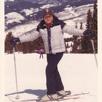 Albert striking a pose at high altitude, as he and his family love to snow ski.