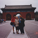 Back to the motherland...with his mother May and niece Melody in the Forbidden City, Beijing, China.