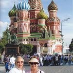 """Albert and Jean even made it to """"Mother Russia."""" They had a splendid time visiting the Kremlin."""