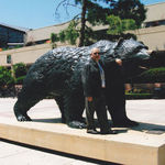 Albert absolutely loved UCLA and visited the campus often. He was the epitome of a UCLA Bruin.