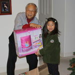 2011, Christmas Day with granddaughter Lauren, whom he always treated as his princess.