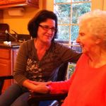 Marie with Mary her kind and special caretaker at Gabriella's..