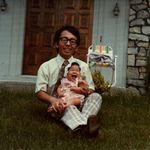 Moo-Nahm with his first daughter, Tammy in 1976
