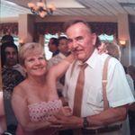 Grandma and Grandpa. Cheesing (: