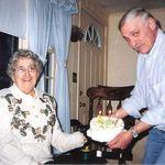 Doris and John celebrating their birthdays in 1999.