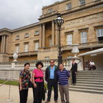 With Vic's sister Evangeline Atkinson and a couple of friends in London, England,9/22/2008