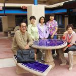 Vic with former classmates at Cubao High School reunion, 4/29/2007