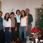 With Joe, Espie & Melissa Alcasid at our Christmas party, 12/25/2004 at our old house