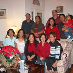 With some friends at our Christmas party, 12/25/2004, at our old house