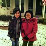Maricel visiting auntie Bella in ohio