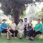 IRENE, GLORIA, FRANKIE, JUDY & MARYLOU with their MOM