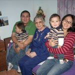 Nana with Saenz Family