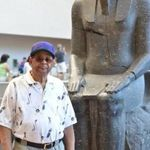 At The Met in The Temple of Dendur NYC 2012.