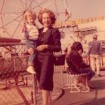 Andrea and Connie at amusement park.
