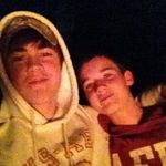 me and him when we were camping one night