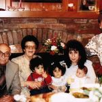 Christmas at Arsen's home in Los Angeles. 1988.