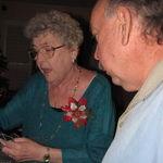 Joyce with Mike Christmas Eve 2012
