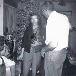Eileen, Joyce, and Kenny at Christmas