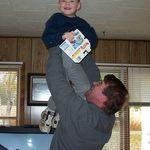 Nephew, Zackery with Uncle Bruce.
