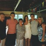 Joe, Tracy, Joey, Gabe, Grandma (Lois), and Katy at Gabe and Katy's engagement party.