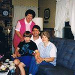 Sandy, Steve, Mark, and Aunt Margaret Johnson 1994