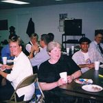 Fun at fellowship hall Douglasville Nazarene - Opal White back left - She and Sandy always laughed and had a good time. Heaven won't be the same with those two laughing it up and praising God.