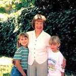 Kirsten and Nicole with Granny 1995