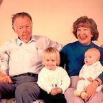 Grandma and Grandpa with Nicole and Kirsten