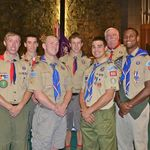 Bill and a few of his Eagle Scouts